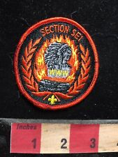 Vtg Section SEI WWW BSA Boy Scout Patch - Native American Indian - Flames 77E2