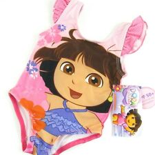 Dora The Explorer One Piece Swimsuit 12 Months Baby Girl Pink Lined Nickelodeon