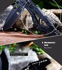 Couteau Transformer JUNLANG Longueur 8 + 11,5 cm Lame Tanto Chasse Peche Bivouac