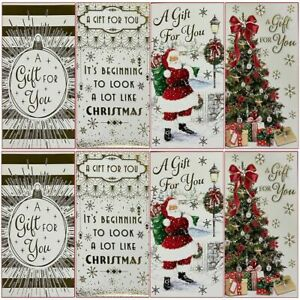 Christmas Money Envelopes Traditional Paid Gift Card Voucher wallet Pack Of 4,6