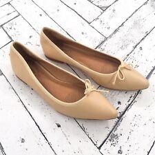 Corso Como Leather Recital Ballet Flats Shoes Sz 10 Nude Silk Nappa with Bow