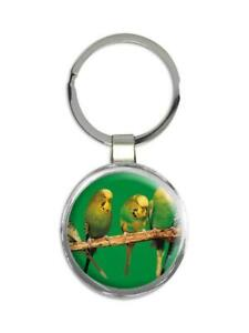 Gift Keychain : Life is Better With Parakeets Bird Nature Animals Watchers