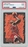🏀1996-97 Fleer #123 Michael Jordan NBA CARD PSA MINT 9- Chicago Bulls The Goat