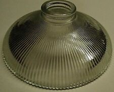"""HOLOPHANE STYLE RIBBED CLEAR REFLECTOR GLASS LAMP GLOBE SHADE 2 1/8""""  X 8"""""""