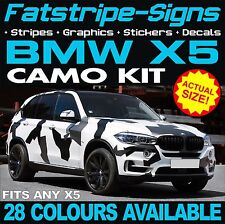 BMW X5 GRAPHICS CAMO STICKERS DECALS CAMOUFLAGE VINYL STRIPES E53 E70 F15 M 3.0