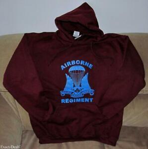 Canadian Airborne Maroon Hooded Sweatshirt Parachutists Paratrooper