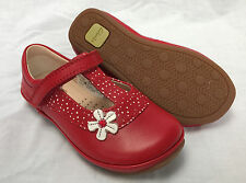 BNIB Clarks Girls Elza Delia Red Leather First Shoes F/G Fitting
