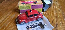 Altes Spielzeugauto Blechspielzeug Schuco LILIPUT Feuerwehr VW Käfer läuft OVP