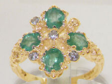Emerald Anniversary Cluster Natural Fine Rings