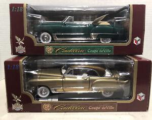 2 Road Legends Collection CADILLACS Coupe de Ville (1949) Diecast metal 1/18