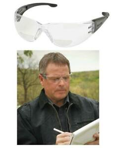 Elvex RX401 Bi-Focal 1.0 To 3.0 Clear Reading Prescription Specs Safety Glasses