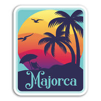 2 x 10cm Majorca Vinyl Stickers - Spain Travel Fun Sticker Laptop Luggage #18364