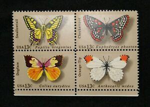 US Stamp Scott #1712-15 ~ BUTTERFLIES 13c 1977 MNH RL02