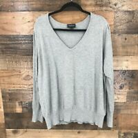 Lane Bryant Women's Grey Soft Vneck Pullover Sweater Size 18/20