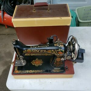 Antique  Singer Model 66??? Red Eye Decal  Sewing Machine case