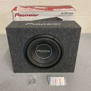 """Pioneer TS-WX106B 1100 Watts 10"""" Pre Loaded Compact Subwoofer Enclosure Box"""