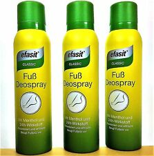 Efasit Classic Fuss Deospray mit Menthol 3 x 150 ml  (EUR 3,00 / 100 ml)
