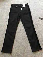 Per Una Roma Rise schwarz Skinny Samt Besatz Jeans Größe 8 R Bnwt Kostenlose tagesbesuchen p&p