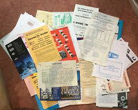 100 x North East, Yorkshire & Lincolnshire Timetable Handbills