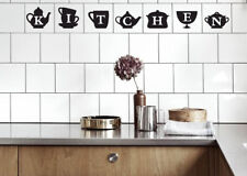 """Tile Transfers stickers for Kitchen or Utility to fit 4"""" or 6"""" tiles."""