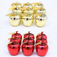 12pcs Cute Christmas Tree Xmas Apple Decorations Baubles Party Wedding Charming