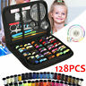 128x Portable Travel Small Home Sewing Set Case Needle Thread Scissors Tool Kit