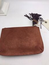 $39 Lucky Brand small pouch clutch beaded hassle  rust  BUP 94