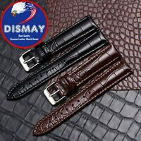 22mm Black Leather Watch Band Strap Made For Citizen Eco-Drive With Clasp Buckle