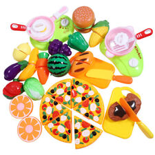 Fruit Pretend Kitchen Cutting Set Fruit Vegetable Food Reusable Role Play Toy US