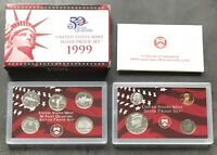 USA 1999 SILBER Proof Set San Francisco PP polierte Platte State Quarter 1c-50c
