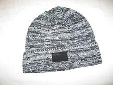 BNWT - BENCH Cuffed  Knitted  Beanie Hat   Black Grey