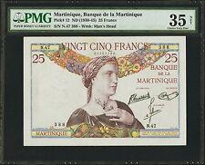 MARTINIQUE Pick 12 25 FRANCS ANTILLES PMG BANQUE DE LA MARTINIQUE ND (1930-45)