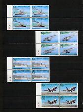 (SBAZ 452) St Lucia 1999 MNH BLOCK OF 4 UPU 125th Anniversary MAIL PLANE SHIP