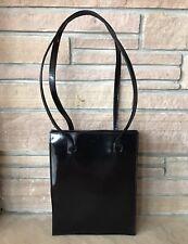 Vintage 90's J.Crew Structured Rectangle Shiny Leather Shoulder Bag