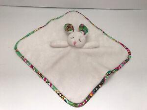 Vera Bradley Bunny Rabbit Lovey Baby Security Blanket Tutti Frutti Paisley Green