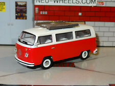 1972 VOLKSWAGEN TYPE 2 BUS WITH TOW HITCH 1/64 SCALE DIECAST REPLICA DIORAMA N