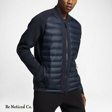 Nike Sportswear Tech Fleece AeroLoft Men's Down Bomber Jacket L Blue Casual New