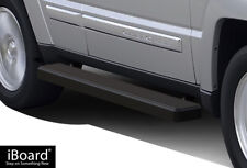 """iBoard Running Boards 5"""" Matte Black Fit 02-07 Jeep Liberty"""