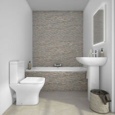 Rimless Close Coupled Toilet Back to Wall Square Pan Soft Close WC Ceramic