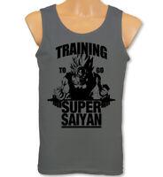 Training To Go Super Saiyan Vest Mens Gym Training Dragon Ball Z Fitness