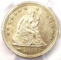 1873 Arrows Seated Liberty Quarter 25C - PCGS Uncirculated Details (UNC MS BU)!