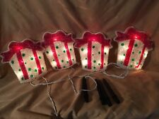 Set Of 4 Lighted String Christmas Lawn Ornaments Decor In Or Outdoor