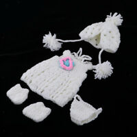 Handmade Doll Knitted Clothes Suit for 30cm Baby Doll DIY Styling Accessory