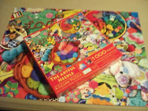 Artful Needle Kate Ward Thacker Jigsaw Puzzle 1000 Piece Sunsout