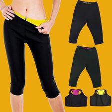 Hot Neoprene Women Sweat Body Shaper Slimming Waist Fat Burner Pants Yoga Vest