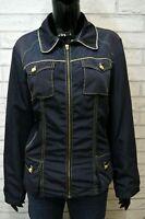 Giubbino ROCCOBAROCCO Donna Woman Taglia 48 Giacca A Vento Jacket Giubbotto Blu
