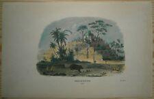 1843 Breton print TEMPLE OF BOROBUDUR, JAVA, INDONESIA (#17)