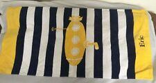 "Pottery Barn Kids Classic Rugby Yellow Submarine Beach Towel ""Eric"" NWOT NLA"