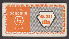 CROATIA  0.20 Dinara ND1980s  XF/AU   Hotel PANONIA in Sisak  scarce local note