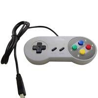 2x Retro Super Nintendo SNES USB Controller Jopypads for Win PC/MAC Gamepads New